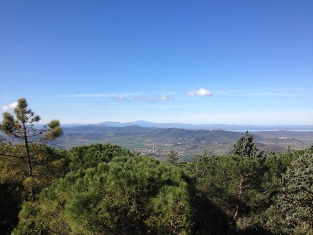 Veduta panoramica del paesaggio in Umbria
