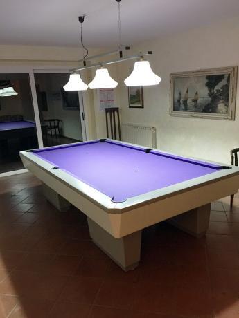Sala biliardo Villa Benessere ad Arezzo