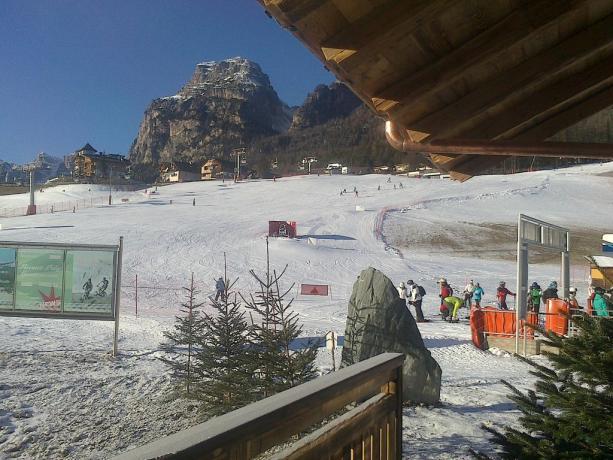 vista sulle piste sciistiche appartamento vicino Bolzano