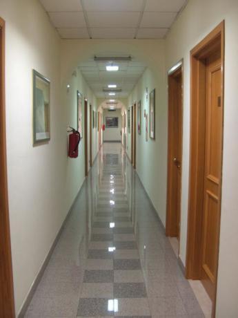 Corridoio camere nella casa a Roma
