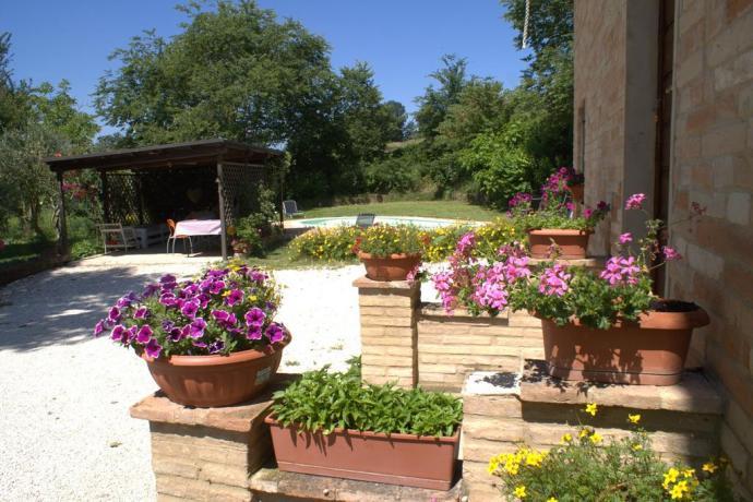 Ampio giardino in Villa nelle Marche