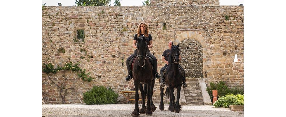 Castello con animali passeggiate a cavallo