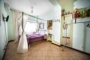 camera matrimoniale con bagno privato, vista su Roma