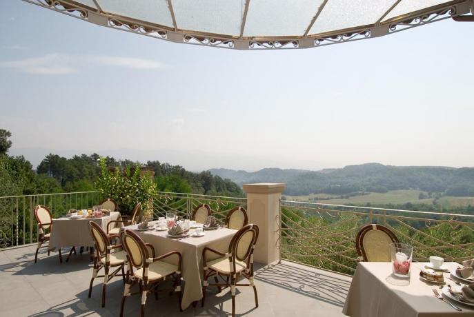 Terrazza panoramica in Resort nel Valdarno