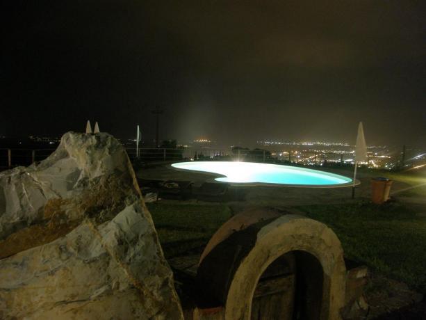 Piscina in Notturna vicino arcipelago Toscano