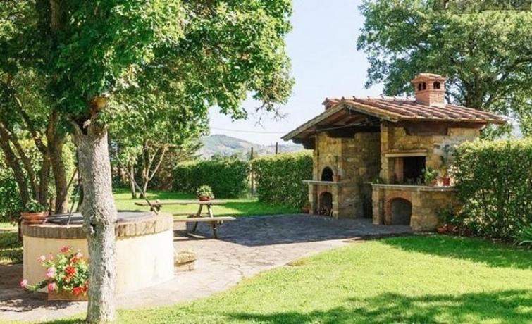Camino esterno per cucina autonoma vicino Arezzo