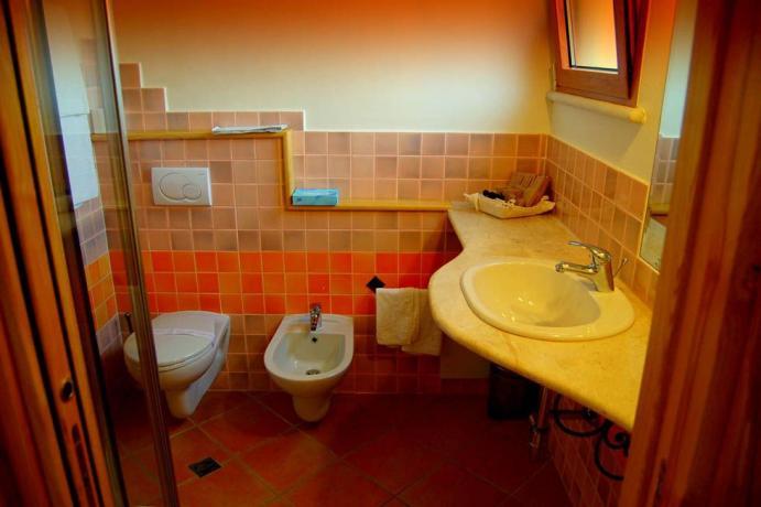 ampio Bagno privato camera in costa smeralda