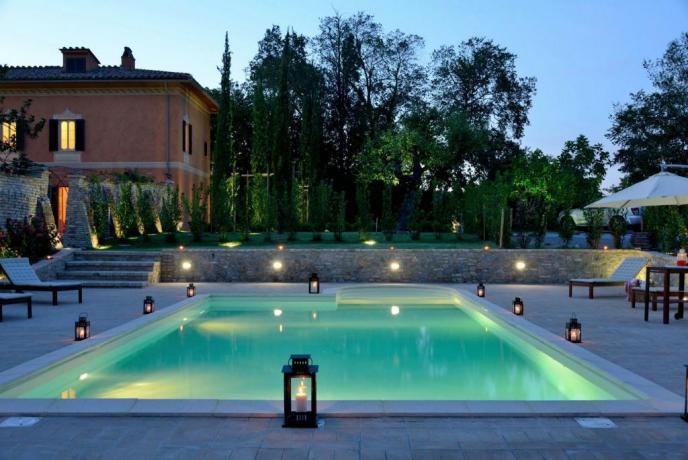 Villa esclusiva 6persone con piscina privata Perugia-Piscille