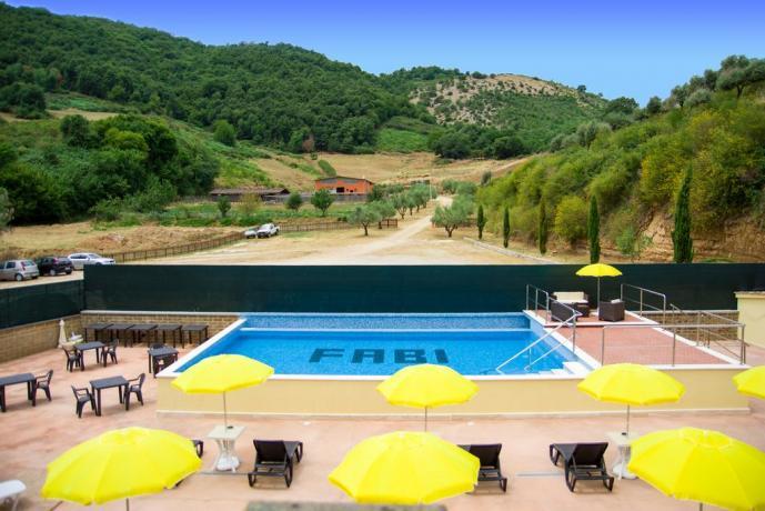 Agriturismo nel Lazio- piscina esterna