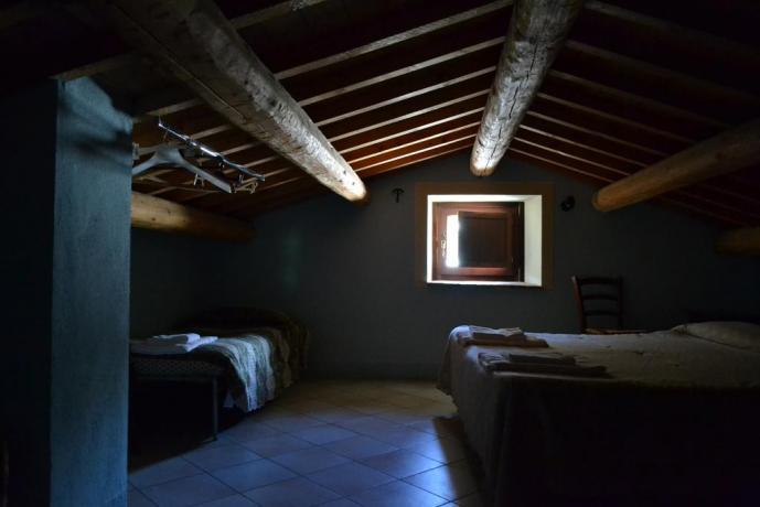 Camera Matrimoniale romantica mansardata