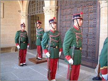 Guards in San Marino