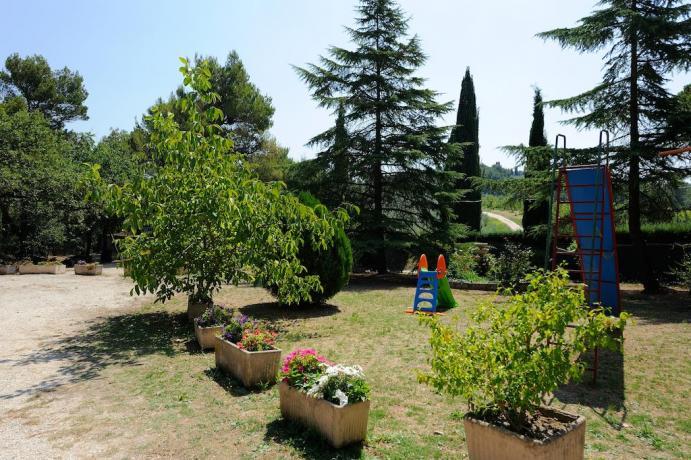 Parco per bambini agriturismo a Bevagna
