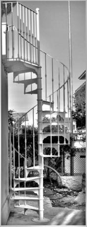 scala chiocciola per esterno