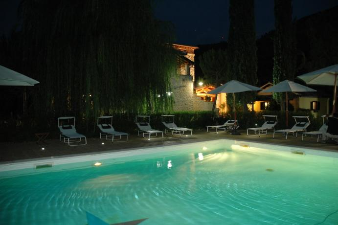 Piscina esterna Casa Vacanze a Ferentillo
