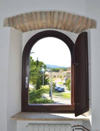 vista dagli appartamenti Business di Corciano Perugia