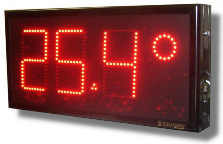 Display termometri industriali alfanumerici elettronici a led