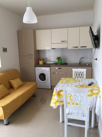 Angolo cottura e soggiorno degli appartamenti