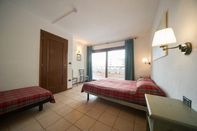 Letto-singolo e matrimoniale appartamento-vacanza 5posti letto Bardonecchia