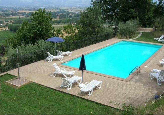 Villa Perugia con piscina e vista panoramica