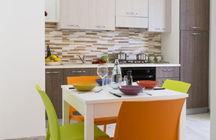 B&B San-Vito-lo-Capo cucina completa appartamento-vacanze Comfort