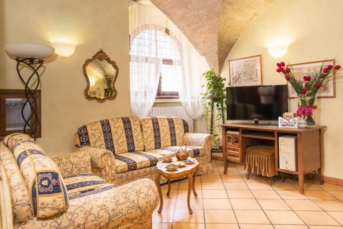 Salottino comune hotel Assisi per gruppi