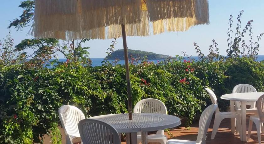 Panorama sul mare del Hotel Cirella