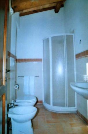 Bagno con doccia appartamento Ulivo