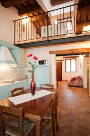 Cucina appartamento papavero in agriturismo