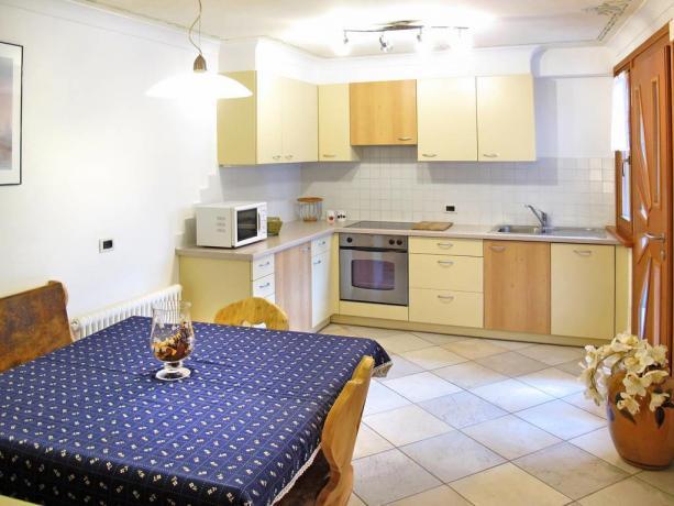 Appartamenti con angolo cottura e soggiorno in Trentino