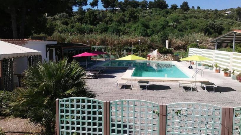 Piscina in Hotel-Residence a Vieste-Foggia