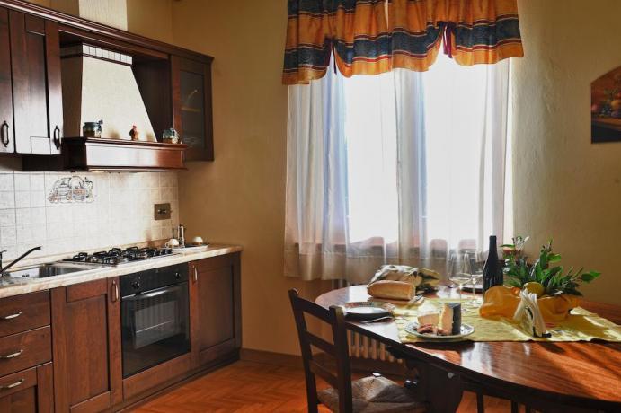 Cucina Appartamento Il Pino a Castiglione del Lago