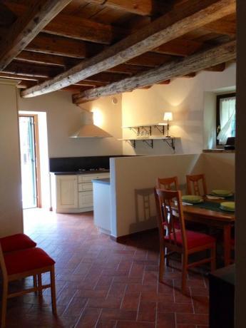 Appartamenti con angolo cucina e camino incluso