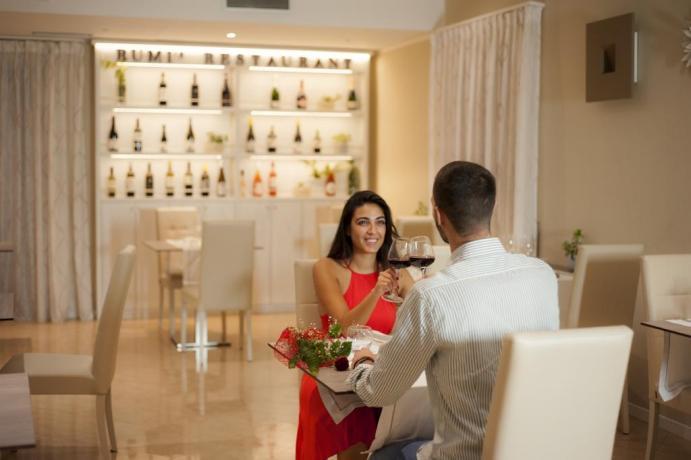 Sala Romantica dell'hotel nel Cilento