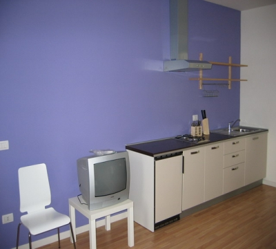 Modern kitchen in Cortignano House