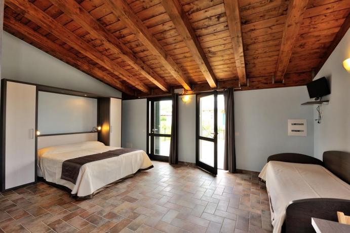 Appartamenti con travi in legno
