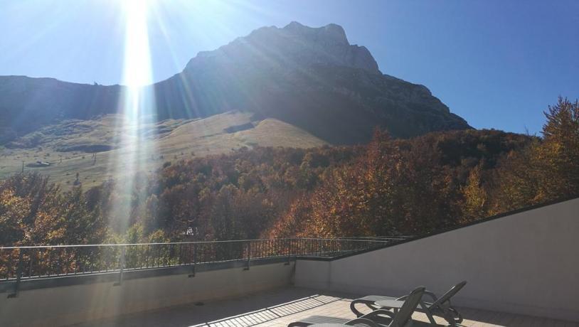 Residence panoramico sul Gran Sasso vista  Terrazzo