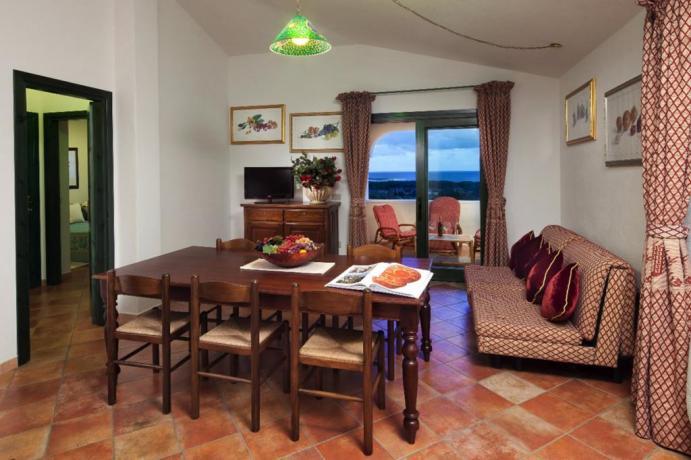 Soggiorno Appartamento Il Belvedere a Orosei