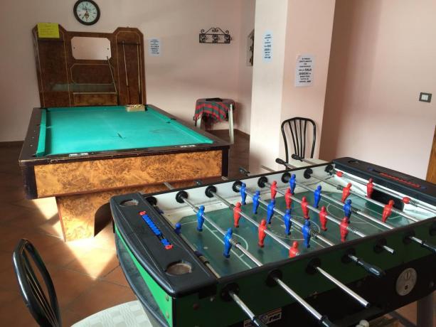 Area ludica per adulti hotel Abruzzo