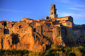 Agritourisms near the City of Pitigliano, Tuscany