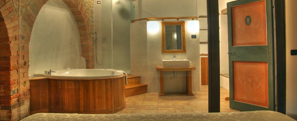bagno privato nelle camere del castello