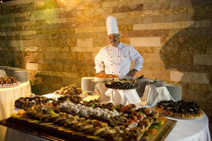 Chef e buffet della cucina pugliese