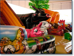 Inflatable games at Liberty City Fun, Naples