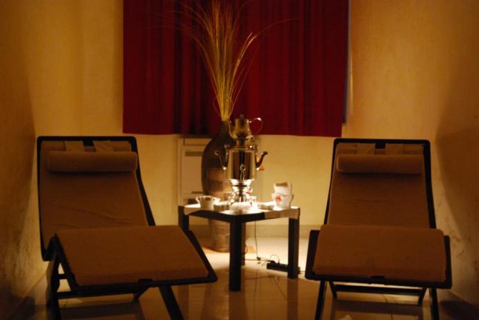 Zona relax centro benessere Resort a Castellana