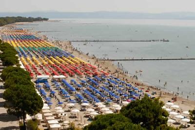 Hotels on the beach in Grado