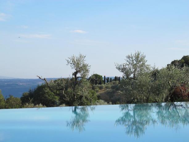 Piscina a sfioro con vista, Umbria Resort