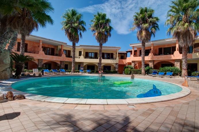 Piscina del Residence Appartamenti Vacanza a Palau