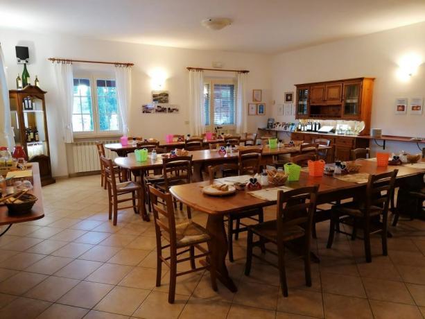Sala colazione agriturismo Grosseto