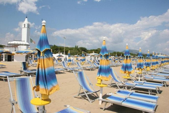 Spiaggia vicino nostro Hotel*** Lido Ulisse Circeo