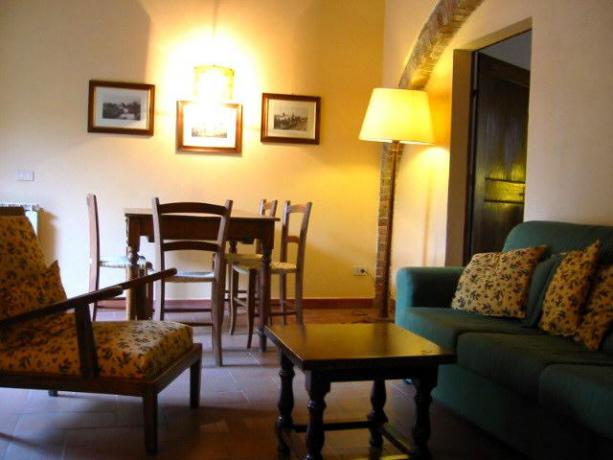 Soggiorno in appartamento Siena ideale famiglia Siena Appartamenti ...