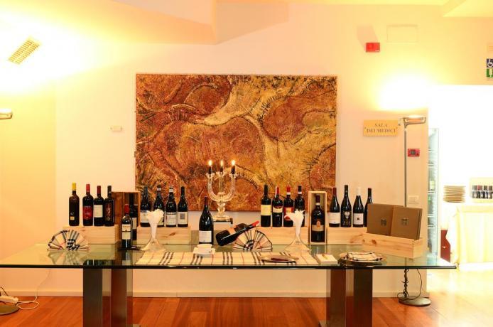 Hotel con selezione di vini da Assaggiare